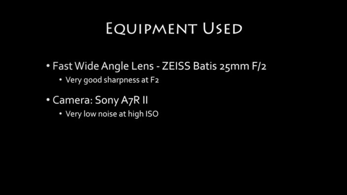 Equipment to capture Low Light in Landscape Photography