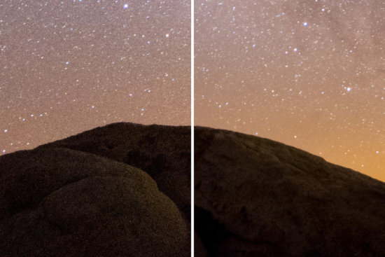 Noise comparison for Night photography by Joshua Snow