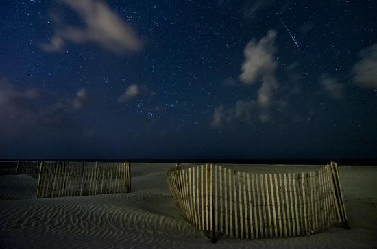 Night photography at Folly Beach
