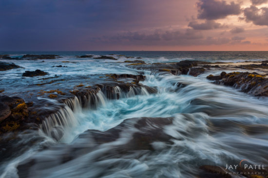 Photo manipulation WITHOUT an ND Filter using long exposure at Big Island, Hawaii by Jay Patel