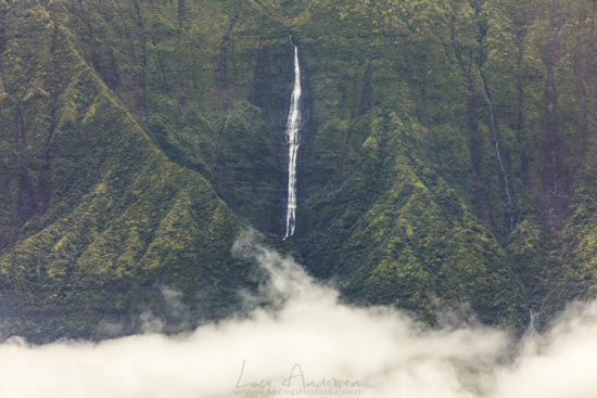Landscape photography or waterfalls in Hawaii by Lace Andersen