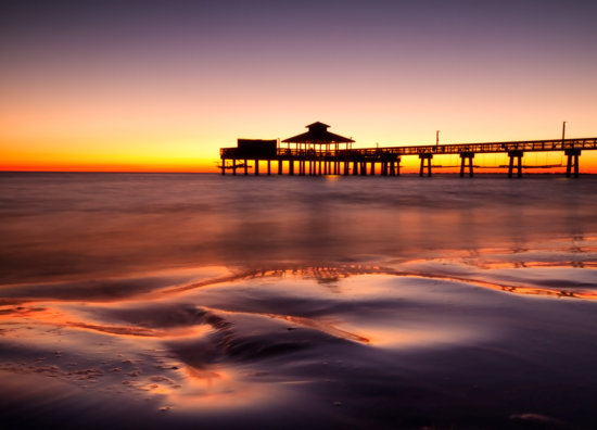 Sunset at Fort Myers Beach, Florida by Anne McKinnell