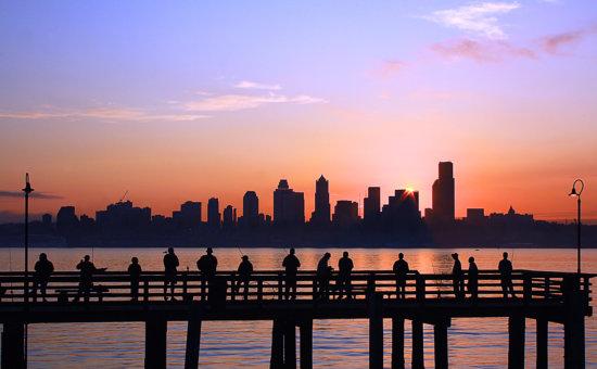 Elliott Bay, Seattle, Washington by Anne McKinnell