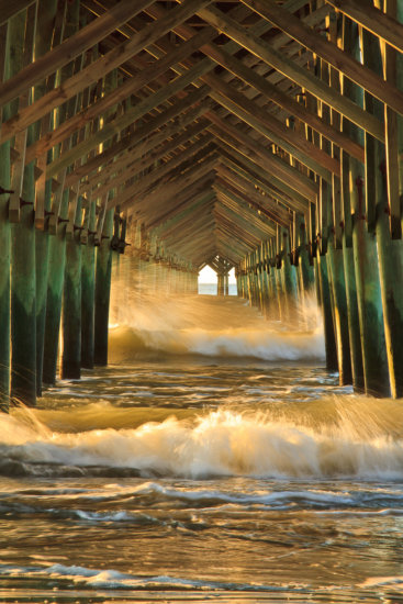 Folly Beach Pier in Charleston, South Carolina by Anne McKinnell
