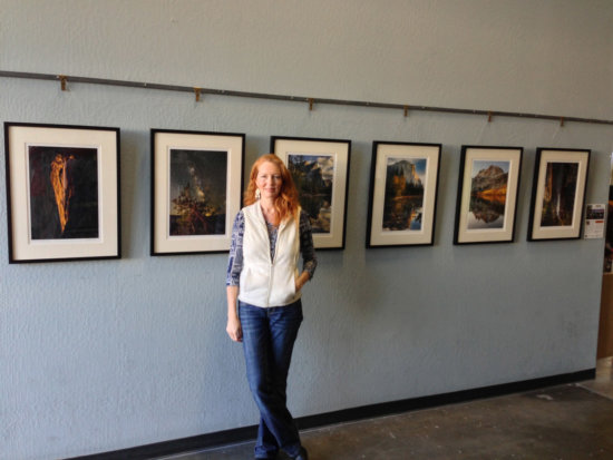 Charlotte Gibb at her Solo Fine Art Exhibit