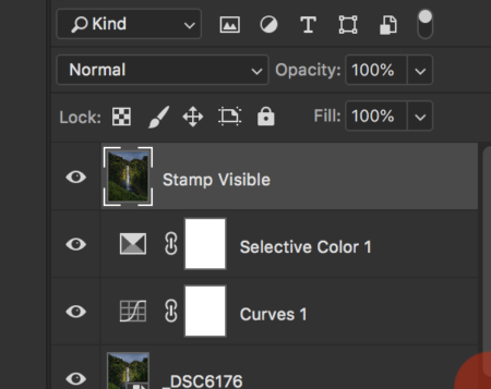 Stamp Layer in Photoshop