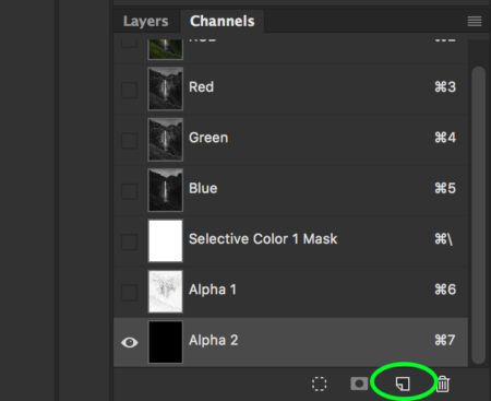 Create in Channel for High Contrast Edge Mask in Photoshop
