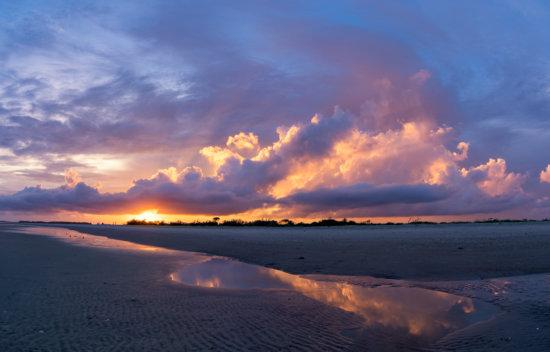 A magical sunrise for Landscape Photographer on atlantic coast