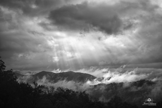 Crepuscular light Rays, Foothills Parkway, Great Smoky Mountain National Park