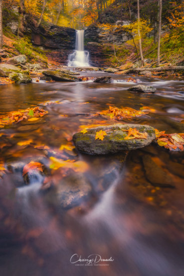 Autumn Waterfall Photography Using Long Exposures and Neutral Density Filter by Chrissy Donadi