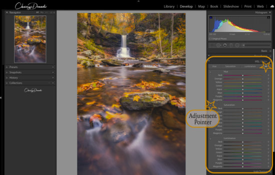 Fall Photography Post Processing Tips with HSL Slider Image by Chrissy Donadi