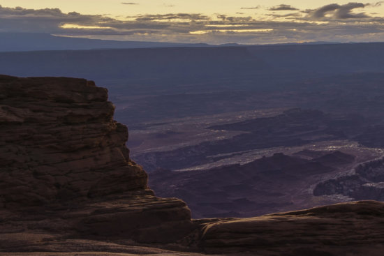 Example of noise free Manually Blended Image from Mesa Arch, Canyon Land National Park, Utah