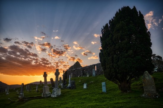 Ruined church and graveyard, Isle of Skye, Scotland