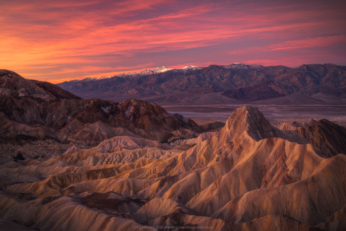 Landscape photography from Zabriskie Point Sunrise, Death Valley National Park, California by Peter Coskun