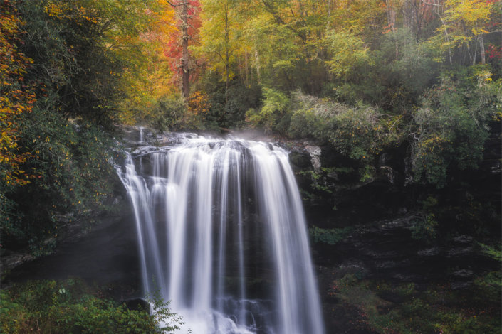 Autumn Waterfall Landscape Photo