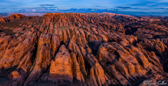 Drone Photograph of Behind the Rocks, Moab