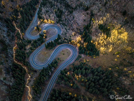 Drone Photography example from Red Mountain Pass, Aerial Photograph