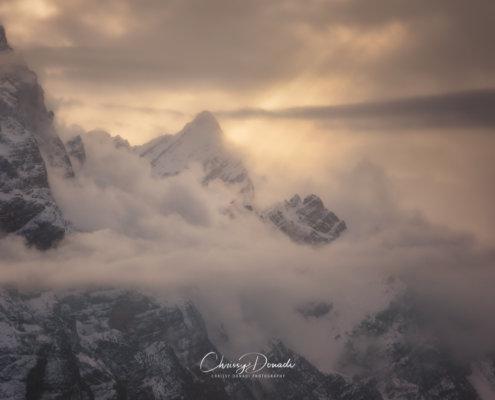 Mountain Winter Sunrise Landscape Photography by Chrissy Donadi
