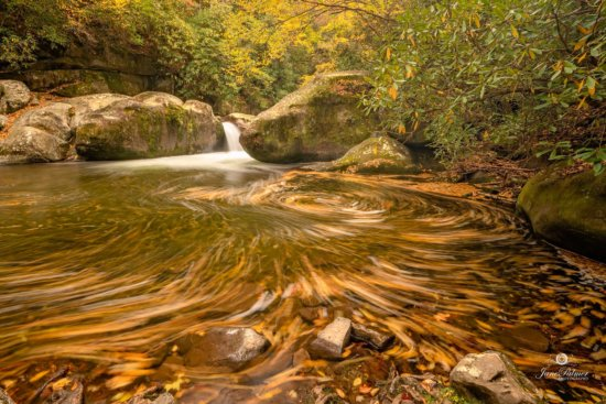Example of creative landscape photography using slow shutter speed from Great Smoky Mountain National Park