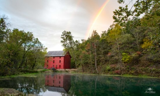 Rainbow at Alley Mill, Eminence, MO