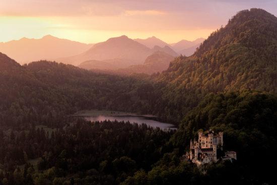 Hohenschwangau Castle in Bavaria, Germany.