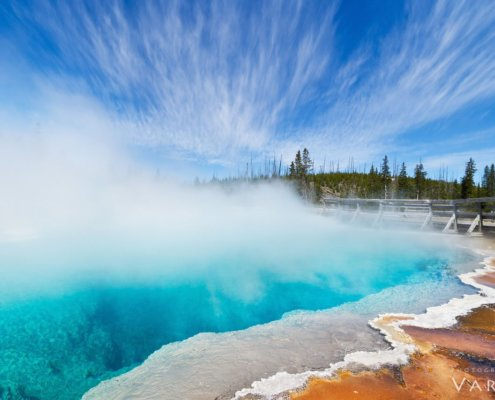 Landscape photography from West Thumb, Yellowstone National Park by Varina Patel