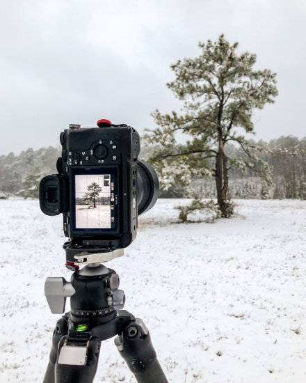 Camera setting to capture fresh snow in winter
