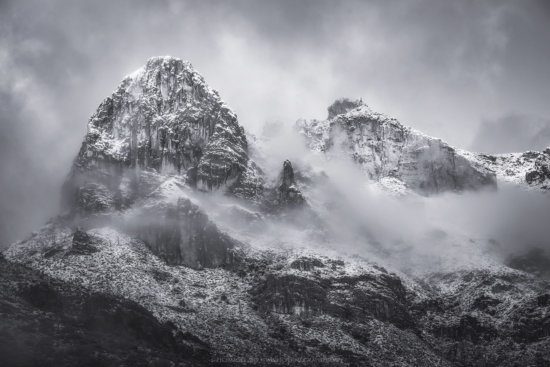 B/W Winter Photography in Mountains