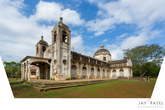 Example of perspective distortion corrected in Photoshop, Iglesia Capulin, Nicaragua