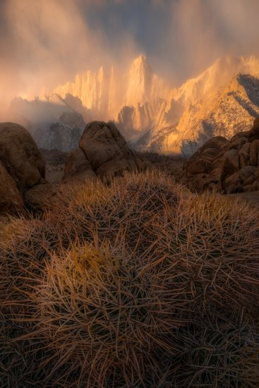 Using morning light co create moody landscape photo at Mt. Whitney by Joshua Snow