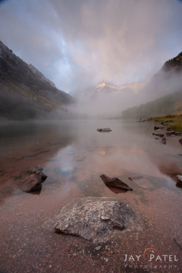 Photographing Mountains in Maroon Bells Wilderness, Colorado - Before Post Processing