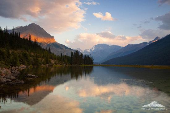 Landscape photography during passing storms, Beauty Creek, Jasper National Park, Alberta by Varina Patel