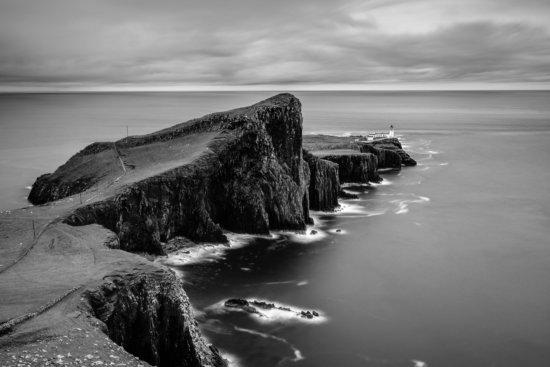 B/W Landscape Photo from Neist Point, Isle of Skye, Scotland bu Ugo Cei