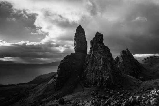 B/W Landscape Photo from The Old Man of Storr, Isle of Skye, Scotland by Ugo Cei