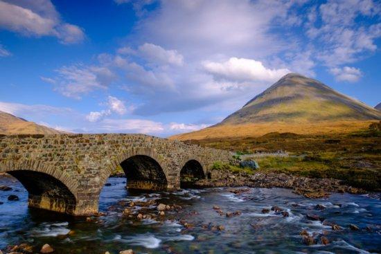 Travel Photography location at Sligachan Old Bridge and Glamaig, Isle of Skye, Scotland by Ugo Cei