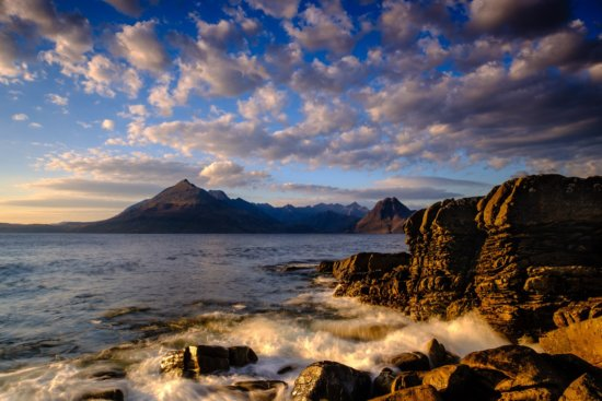 Travel Photography Location at Coastline at Elgol, Isle of Skye, Scotland