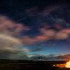 Night photography at Halema'uma'u Crater, Volcanoes National Park, Hawaiis by CK Kale.