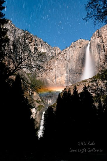 Moonbow Yosemite National Park, CA by CJ Kale