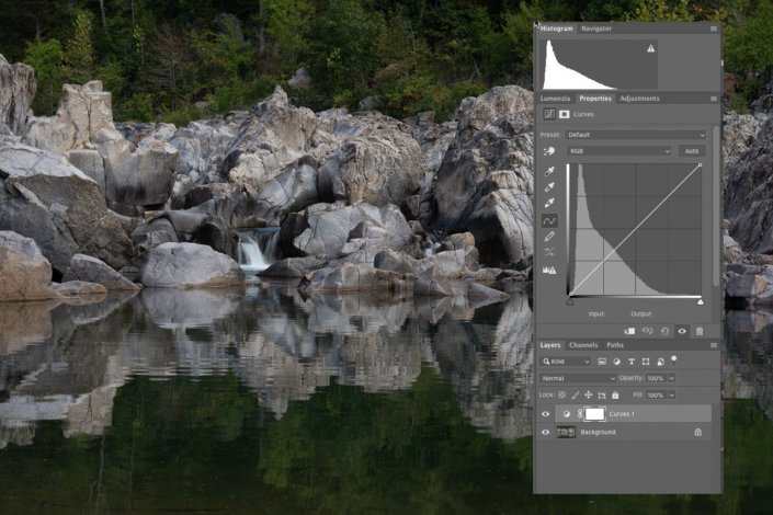 Landscape Photography blog post about Photoshop Curves adjustment tool by Jane Palmer.
