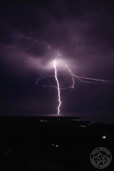 Nature photography during an electric storm over the Caribbean ocean in Gressier, Haiti by David Johnston