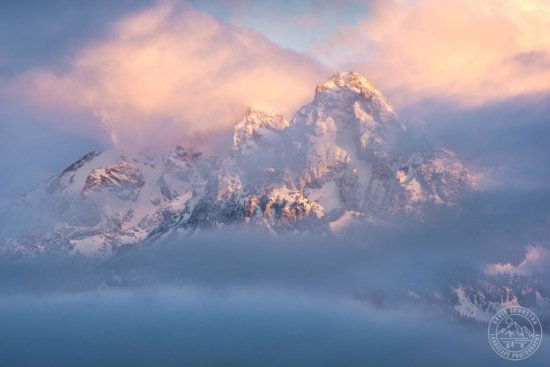 Unpredictable morning weather at Grand Tetons National Park