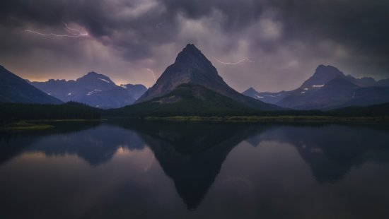 Nature Photography from Swiftcurrent Lake by Peter Coskun.