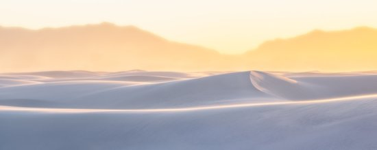 Example of panoramic nature photography from White Sands Desert, New Mexico by Francesco Carucci