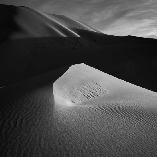 Second Black & White Fine Art Landscape Photo of Sand Dunes