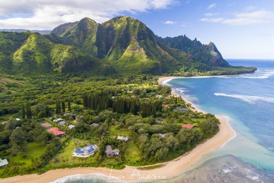 Ariel landscape photography from Hawaii by Lace Andersen