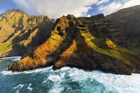 Hawaii coastline from air by Lace Andersen