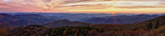 Panoramic Landscape created in Photoshop from Blue Ridge Parkway by Kate Silvia
