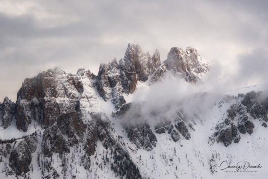Landscape Photography with telephoto lens of Italian Dolomites by Chrissy Donadi