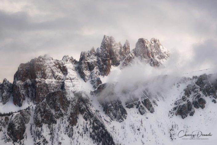 Landscape Winter Photography of Italian Dolomites by Chrissy Donadi
