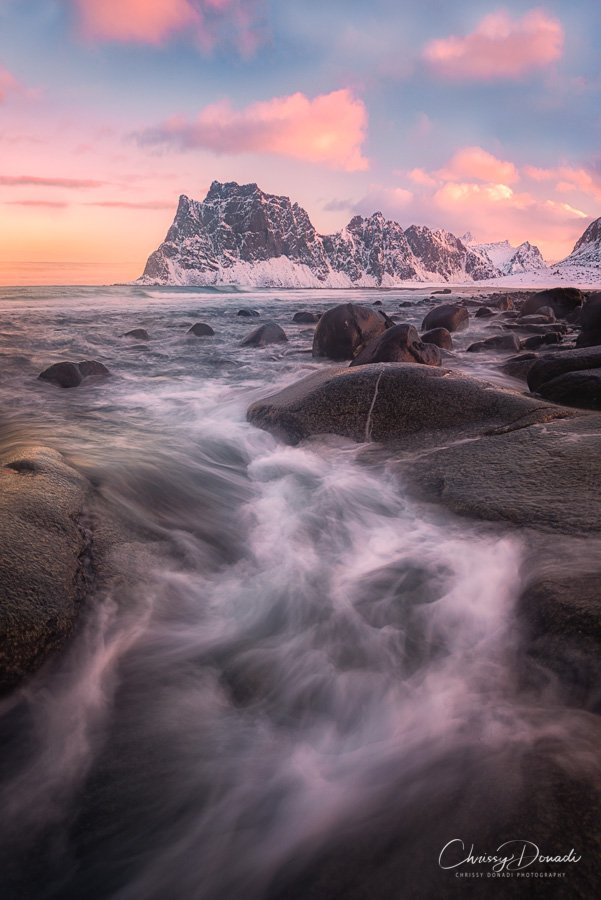 Landscape Photography of Norwegian Beach in Winter by Chrissy Donadi